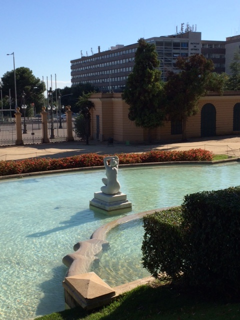 Park fountain in Barcelona.